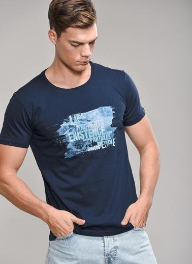 People By Fabrika Baskılı Tişört İndigo